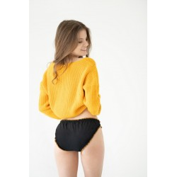 black pad panties for heavy flow organic cotton back view