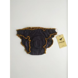 Black period panty front view