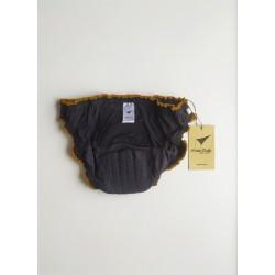 Black period underwear inside back view