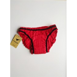 Red period panty inside front view