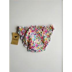 Culotte menstruelle motifs fleurs vue derrière