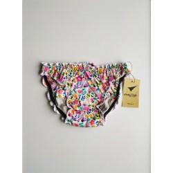 Culotte menstruelle motifs fleurs vue devant