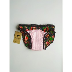 Frida pattern period panty inside front view