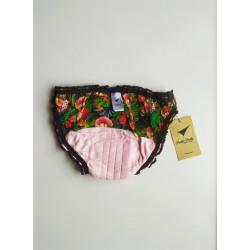 Frida pattern period underwear inside back view